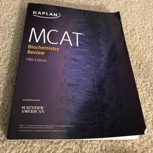 Kaplan MCAT Biochemistry Review paperback textbook